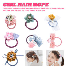 Sweet Girl Kids cartoon animal flower hair bow elastic band girls rubber toddlers Chiffon ties ring accessories