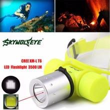 1 шт. Водонепроницаемый флэш-светильник 3500Lm CREE T6 светодиодный подводный головной светильник лампа вспышка светильник фонарь#3J17