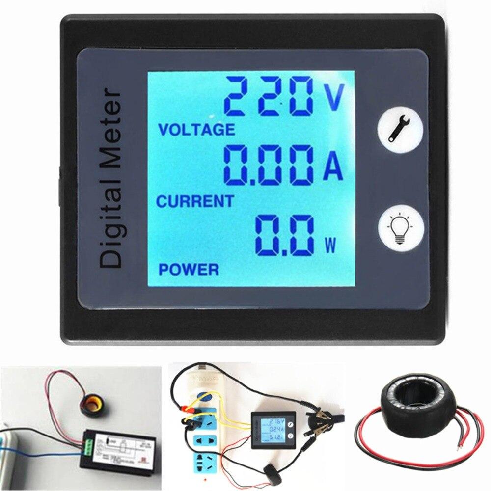 AC80V 260V 100A Digital Power Energy Meter Voltage Tester Ammeter ...