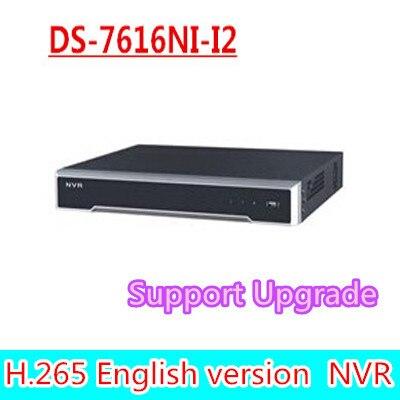 free shipping DHL english version DS 7616NI I2 2SATA 16ch NVR supporting third party font b