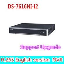 Envío libre de DHL versión inglés DS-7616NI-I2 2SATA 16ch NVR apoyo terceros cámara, plug & play H.265