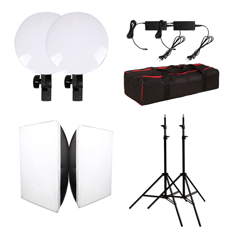 Image 2 - GSKAIWEN Photography Studio LED Lighting Kit Adjustable Light with Stand Softbox Tripod Photographic Video fill light-in Photographic Lighting from Consumer Electronics