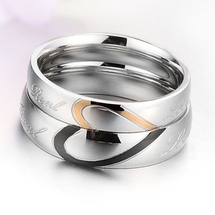stainless steel endless love couple rings princess his her wedding rings sets heart shape cross rings - His And Her Wedding Ring Sets