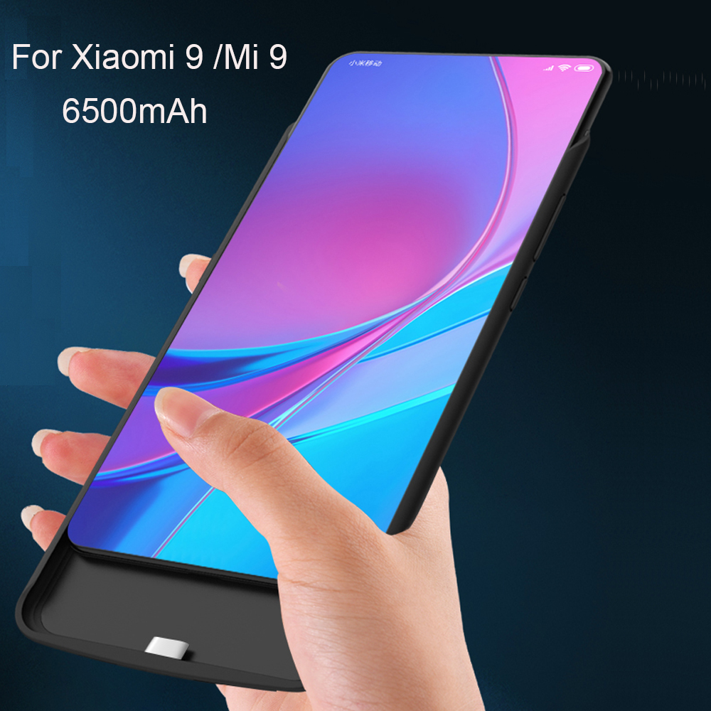 High Quality 6500mAh Power Bank <font><b>Case</b></font> For <font><b>Xiaomi</b></font> 9 Pack Backup <font><b>Battery</b></font> Charge For <font><b>Xiaomi</b></font> <font><b>Mi</b></font> 9 <font><b>Battery</b></font> <font><b>Case</b></font> Cove image