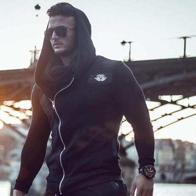 2016 БЫТЬ Хлопок бодибилдинг майка одежда Толстовка Кофты фитнес мужчин жилет Тис Рубашка толстовки
