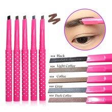 New Eyebrow Pencil Natural Waterproof Rotating Automatic Eye Brow Pencil Cosmetic Eyebrow Shaping Liner Pen H7JP