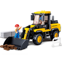 Sluban Model Toy Compatible With Lego B0538 212pcs Forklift Tractor Model Building Kits Toys Hobbies Building