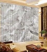 Foto Del Personalizar tamaño de mármol gris cortina de encargo
