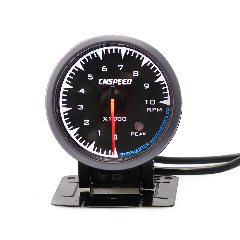 12V Car Tachometer 7 Colors LED Backlight 52mm Round Pointer Universal RPM Gauge
