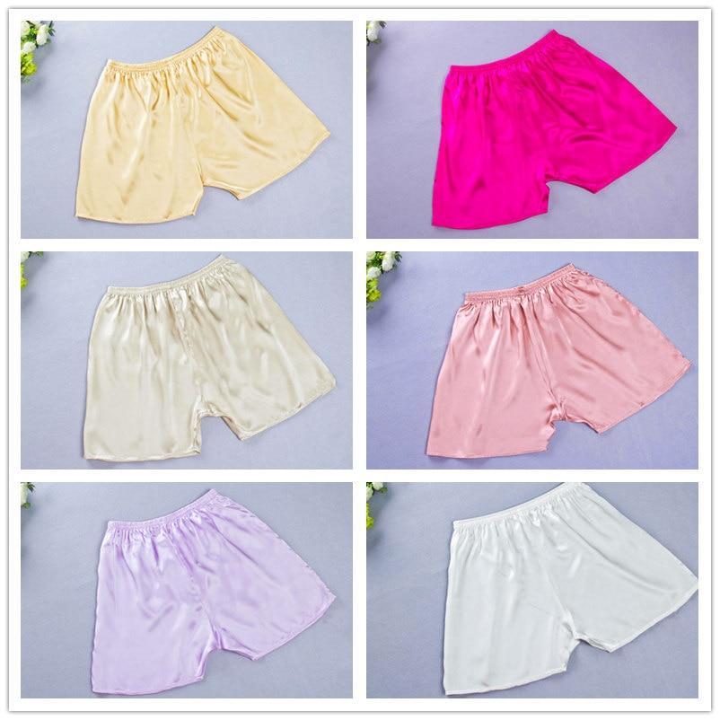 Neu Kostenloser Versand 100% reine Seide Casual Shorts solide - Damenbekleidung