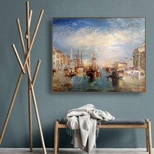 Laeacco Canvas Painting The Palazzo Balbi on the Grand Canal Wall Art William and Joseph Posters Prints Home Living Room Decor