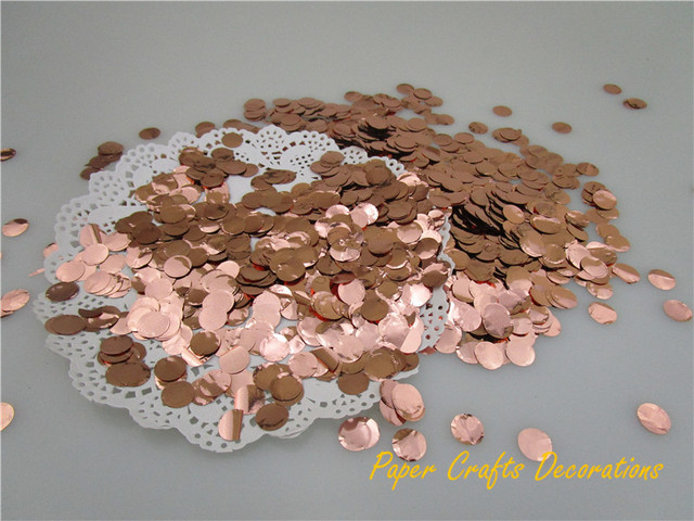 1cm 10gbag metallic rose gold mini round pvc confetti throwing celebration wedding bridal shower