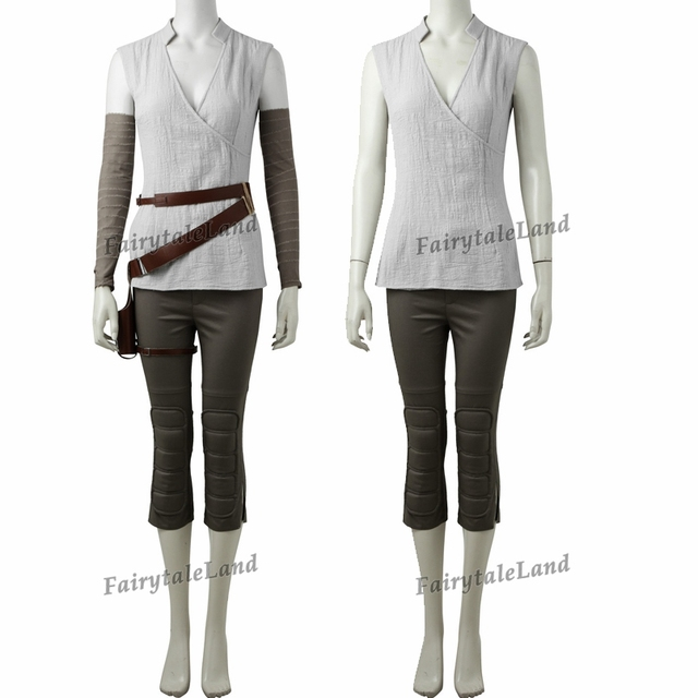 Star Wars The Last Jedi Rey Cosplay Costume Carnival Halloween Cosplay Rey Costume Star Wars suit Rey clothing Custom made 2