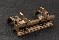 QD Auto Quick Release Detach for 20mm Picatinny Rail Rifle Square Stop Pin Scope Mount 30mm 25mm Rings TAN M9182