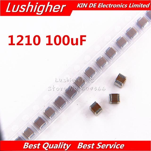 50pcs 1210 100uF 107K 250V X7R 10% SMD קרמיקה קבלים MLCC