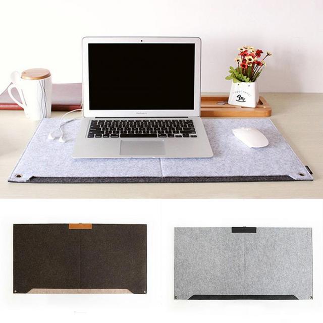 New Computer Desk Mat Modern Table Felt Office Mouse Pad Pen Holder Wool