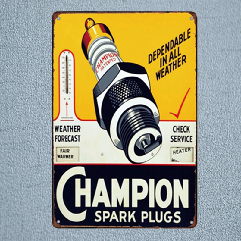 Spark Plugs Motor Home Garage Vintage Tin Signs Metal Plates For Wall Bar Home Art Garage Decor Cuadros  30X20CM A-3407 signs