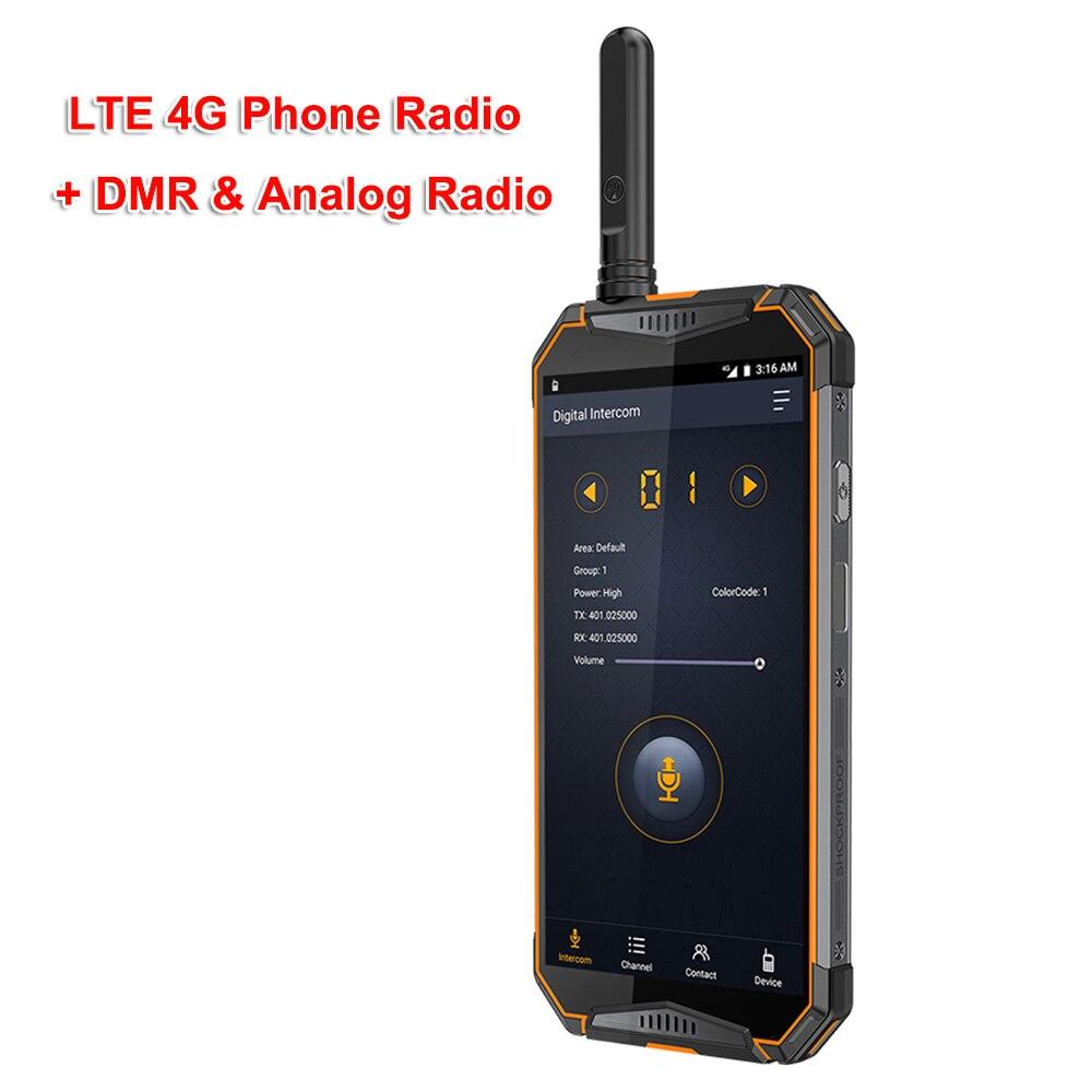 Ip68 Walkie Talkie Android8.1 4G Phone Radio Ulefone T3 DMR Digital Radio UHF Transceiver GSM/WCDMA/LTE Radio 3WT Zello Realptt