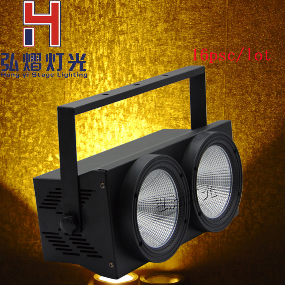 16 pcs/lot 2X100W COB LED Par Light LED wash light video front lamp performance stage DMX lighting cool white and warm white 2pcs lot 2 eyes 2x100w led cob light dmx512 stage lighting effect warm white and cold white 200w led blinder light fast shipping