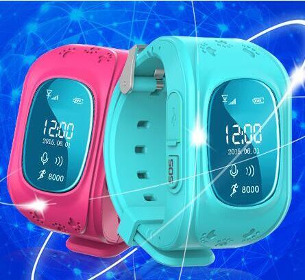 Marque de mode Anti-perdu SOS GPS localisateur Tracker montre intelligente enfants enfants garçon fille montre-bracelet Relogio pour iOS Android H8203