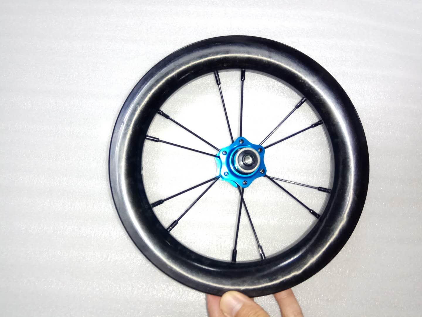 12 BMX Wheelset 12 Inch Hot Sale BMX Carbon Wheels 30mm Depth 25mm Width Tubless Full Carbon 3K / UD 6 Colours Hubs