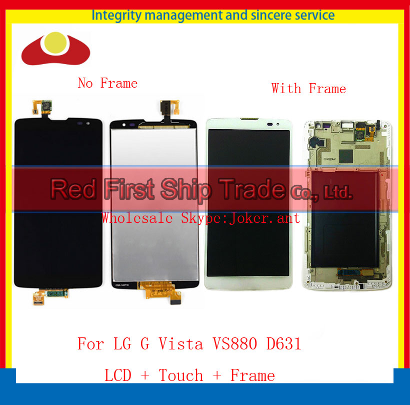 High Quality For LG G Vista VS880 D631 Full LCD Display Touch Screen Digitizer Sensor Assembly Complete With Frame Free Shipping high quality for iphone 4 4g 4s full lcd display touch screen digitizer sensor assembly complete with frame bezel white black