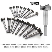 16Pcs/Set 15-35mm Auger Drill Bit Set Hole Opener for Woodworking Hole Saw Wooden Wood Cutter Hand Tools 230 mm hexagonal handle woodworking hole cutter auger drill bits hand tools 22 230 mm alloy carpenters tools