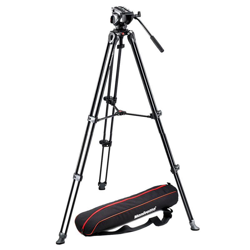 Manfrotto MVH500A Tripod Heads + MVT502AM Portable Tripod For SLR Camera Tripod Ball Head Monopod Changeable Load Bearing 5KG qzsd q999 portable tripod for slr camera tripod ball head monopod changeable load bearing 18kg