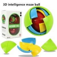 3D Maze Ball Children S IQ Training Jigsaw Education Logic Brain Sharp Turn Game DIY Assembly
