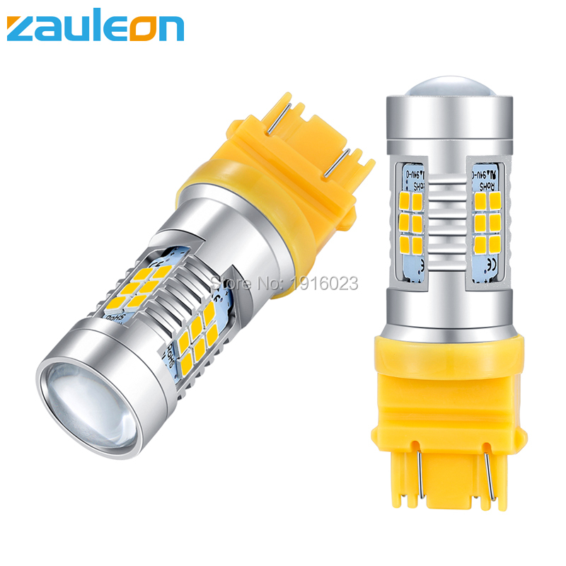 Signal Lamp Automobiles & Motorcycles Romantic Zauleon 2pcs T25 3157 3156 Led Amber Yellow Turn Signal 21smd 2835 801 Lumens P27w Led Car Bulbs P27/7w Car Replace Lamp To Assure Years Of Trouble-Free Service