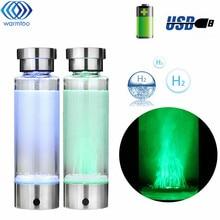 Умный водород богатые бутылки для воды ионизатор портативный USB Перезаряжаемые Стекло Чайник ионизатор генератор 350 мл супер антиоксидант