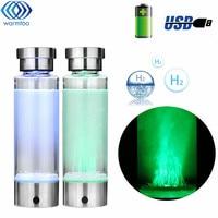 Intelligent Hydrogen Rich Water Bottles Ionizer Portable USB Rechargeable Glass Maker Ionizer Generator 350ML Super Antioxidants