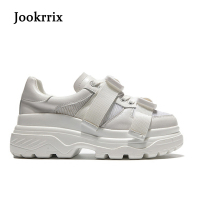 Jookrrix New Spring Fashion Lady Casual White Shoes Women Sneaker Black Leisure Heighten Platform Shoe Soft