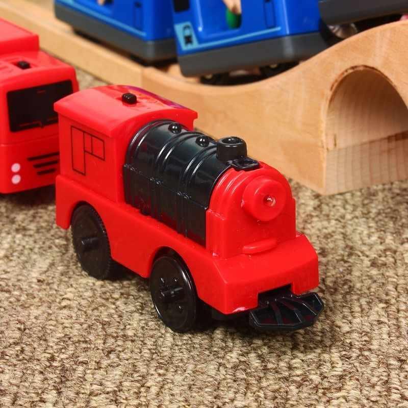 Дети Электрический поезд игрушки набор магнитный поезд литья под давлением слот игрушка подходит для стандартной деревянная железная дорога набор деревянная железная дорога Brio