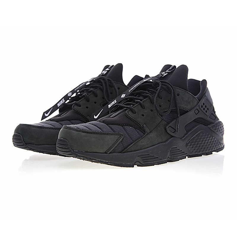 Nike Air Huarache QS NYC Men's Running Shoes,black, Shock Absorption Breathable Non slip, Outdoor Sneakers Shoes AJ5578 001