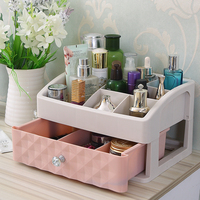 Large Desktop Dresser Makeup Box Transparent Skin Care Products Lipstick Box Drawer Cosmetic Plastic Storage Box Household