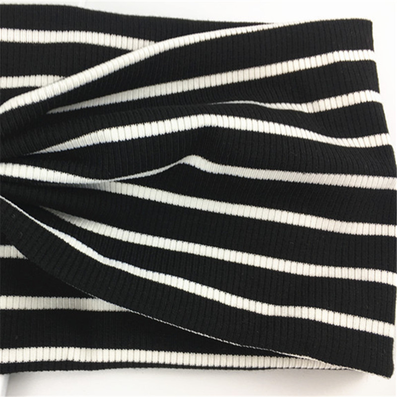 Leayh Simple Style Black White Striped Headbands For Women Stretch Sports Wide Head Hair Bands Headscarf Headdress in Women 39 s Hair Accessories from Apparel Accessories