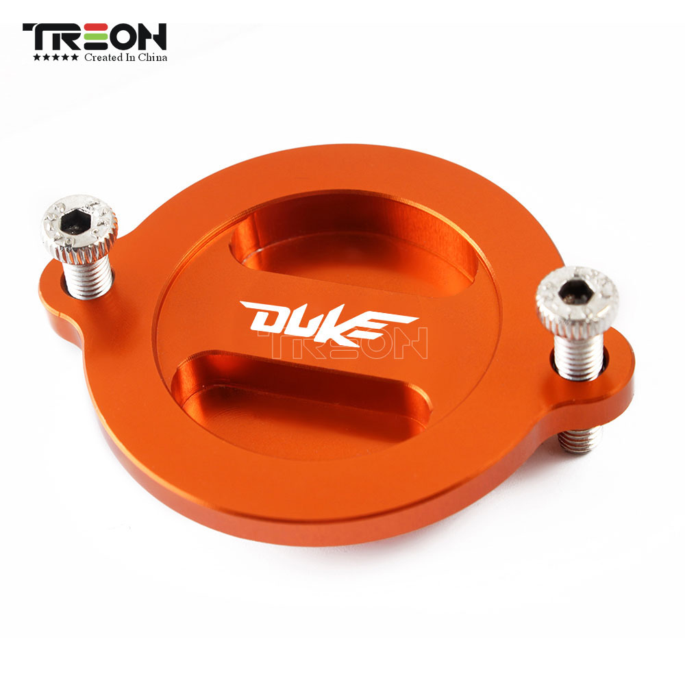For KTM DUKE 125 duke 200 Duke390 2013 2014 2015 2016 2017 Motorcycle Accessories CNC Engine Oil Filter Cover Cap with Logo image