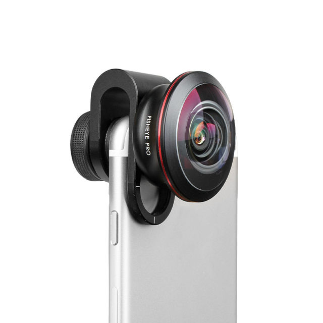 Aerb teléfono kit de lente Universal 8mm profesional Super lente gran angular HD completa 4 k Super ojo de pez pro para smartphone microscopio