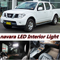 6 X Error Free Car LED Bright Vehicle Interior Map Dome Door Lights Kit Package for nissan navara accessories 2004-2015