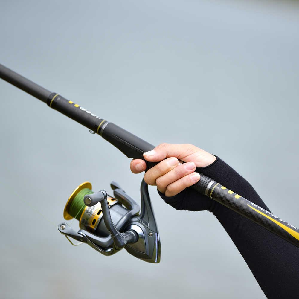OBEI télescopique carpe canne à pêche 3.3 3.6m Fiber de carbone fuji filature canne pesca 12-25lb puissance 80-200g 11' 12' pôle dur