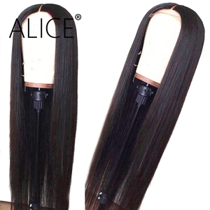 Luffy 13x6 Short Bob Lace Front Wigs Human Hair Natural Wave Indian Remy Natural Black Pre Plucked Bleached Knots For Women(China)