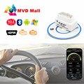 SUPER MINI ELM327 Bluetooth OBD2 V2.1 Smart Car Interface de Diagnóstico Mini ELM 327 Em Android Torque II OBD 2 Ferramenta de Verificação Sem Fio