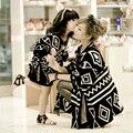2016 Juego de Ropa de la Familia de Madre E Hija Familiar Mirada Ropa A Juego Traje de Padre-hijo Ma e Filha Mommy and Me camisas