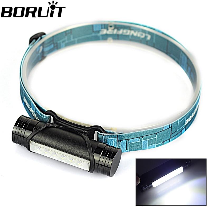 Boruit MINI 400LM Rechargeable LED Headlight 3Mode Headlamp Flashlight Head Lamp Torch Light USB Cable Built