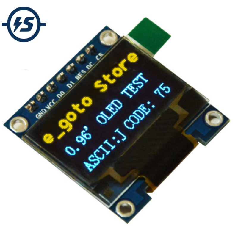 096 inch IIC SPI Serial 128X64 Yellow Blue OLED Display Module I2C LCD Screen Board 096 SSD1306 for Arduinostm3251