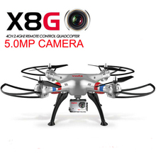 SYMA X8G Headless Mode 2.4GHz 6 Axis RC Helicopter Camera Drone with 5.0MP Camera 3D Roll Remote Control Toys Drone EU Plug