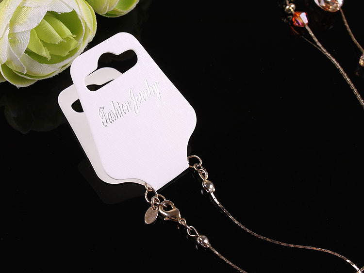 100pcs Kraft Handmade Jewelry Big Thick Necklace Pendant Cards OPP Bag 3 5x9 3cm Paper Craft Card Hang Tag Jewelry Displays in Jewelry Packaging Display from Jewelry Accessories
