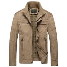 Мужская куртка хаки и армейские зеленые цвета Мужское пальто Повседневная твердая куртка Мужская куртка Хлопок Плюс Размер Мужское пальто ZHAN JDI JI PU