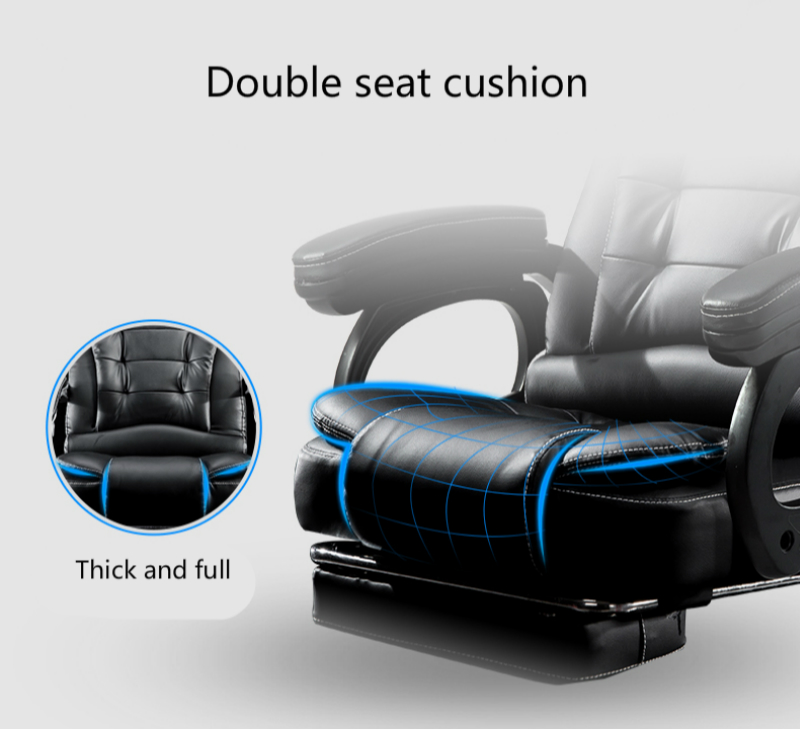 Household Computer Chair Thicken Sumptuous Boss Chair Reclining Massage Office Chair Arched Foot Steady Chair With Footrest Soft Office Chairs Office Furniture
